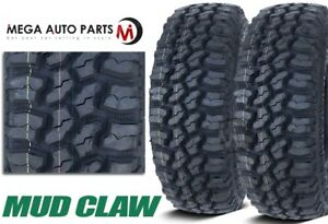 2 Mud Claw Extreme Mt 33x12 50r15lt 108q C All Terrain Performance Mud Tires