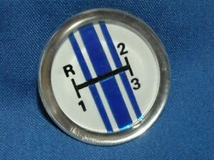 Ford 3 Speed Shifter Knob Button Blue White New