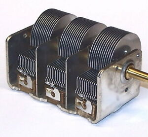 New Triple 365pf 3 Section Variable Air Tuning Capacitor Crystal Tube Am Radio