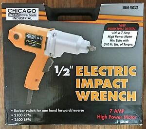 Chicago Electric 45252 7a 1 2 Impact Wrench W Case