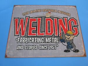 Tin Metal Gasoline Service Station Man Cave Advertising Decor Gas Oil Welding