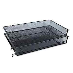 Universal One Black Mesh Stackable Side Load Tray pack Of 4