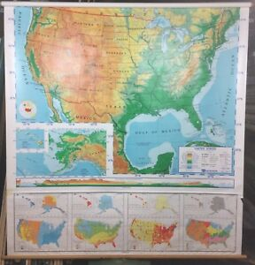 Nystrom United States Pull Down Classroom Map 1 Map 1sr1