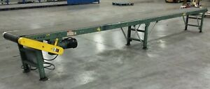 22 X 21 Hytrol Brand Powered Belt Conveyor 230 Vac With Variable Speed Drive