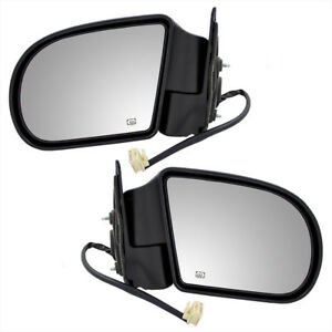 Oldsmobile Chevy Gmc Pickup Truck Set Of Side Power Mirrors Heated Plastic Base