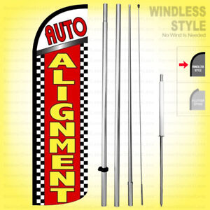 Auto Alignment Windless Swooper Flag Kit 15 Feather Banner Sign Rq13 h