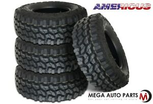 4 New Americus Rugged Mt 3110 50r15lt 109q C 6 All Terrain Mud Tires