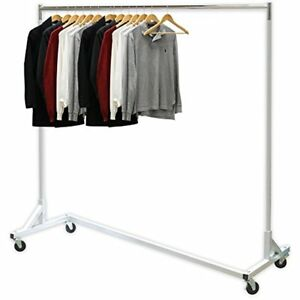 Industrial Garment Racks Grade Z base Rack 400lb Load With 62 Extra Long Bar