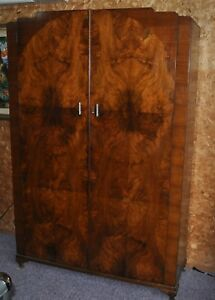 Beautiful Large Victorian Walnut Armoire Wardrobe