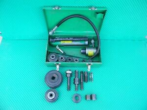 Greenlee 767 Hydraulic Knockout Punch Set Used Tested In Good Working Order