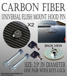 Icbeamer Carbon Fiber Mount Bonnet Security Hood Pins Latch Kit Lock W Keys S28