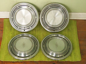 1969 Oldsmobile Hub Caps 14 Wheel Covers 69 Olds Set Of 4 Hubcaps
