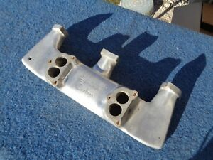 Edmunds 2x2 Intake Manifold Hot Rat Rod Mopar Chrysler Pliymouth Dodge Desoto