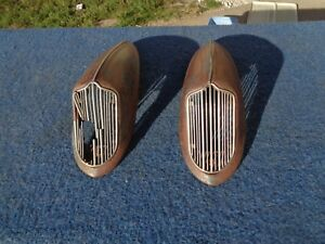 1936 36 Dodge Horn Covers Solid Original Pair