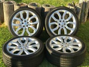 22 Range Rover Factory Oem 22 Wheels Rims Tires 22 Sport And Full Size Silver