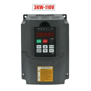 Hy 3kw 110v 4hp Variable Frequency Drive Inverter Vfd Cnc Motor Speed Controller