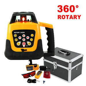 Ridgeyard Automatic Self leveling Rotary Laser Level Red Beam Remote Control