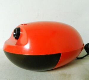 Vintage Mcm Space Age Egg Shaped Red Boston Model 16 Electric Pencil Sharpener