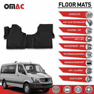 Mercedes Dodge Sprinter 2007 2018 Floor Mats Liner 3d Molded Fit Black Set