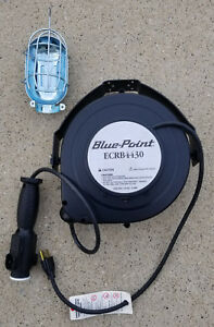 Snap On Tools Blue Point Ecrb4430 25 Cord Reel Drop Light With 120v Outlet New