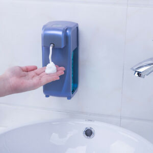 Automatic Sensor Touchless Soap Dispenser Countertop wall Mounted Blue 300ml