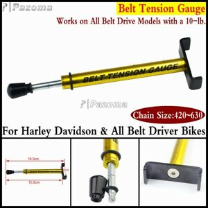 Motorbike Belt Tension Gauge Tensioner Tool For Harley All Belt Driver Bikes
