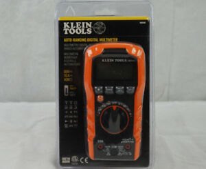 Klein Tools Mm400 Auto Ranging Digital Multimeter 600v 10a 40m Brand New