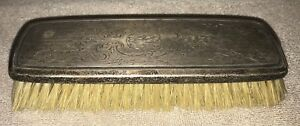 Vntg Antique Victorian Style Sterling Silver Horse Hair Brush