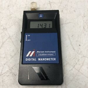 Meriam Instruments A0030p Portable Digital Manometer Tested And Working