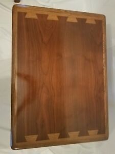 Lane Mid Century Acclaim Side End Andre Bus Table Walnut Ash Inlay Perfect