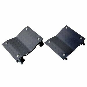 Black Powder coated Metal 3 inch Casters Car Wheel Dolly pack Of 4