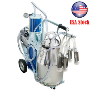 Stainless Steel Electric Milker Bucket 25l Milking Machine Portable Farm Cows