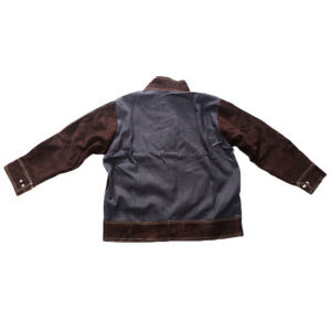 Welding Jackets Coat flame Resistant Welding Suits Welder Clothing Brown xl