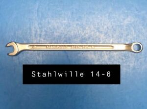 Stahlwille 14 6 Wrench Long Combination Open Box 6mm Type 14 115mm Long
