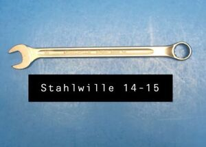 Stahlwille 14 15 Wrench Long Combination Open Box 15mm Type 14 215mm Long