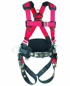 Protecta Pro 1191209 Full Body Construction Harness 3 D ring With Lanyard M l