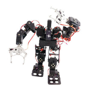 Metal 15 Dof Bipedal Walking Robot Kit With Robotic Arm Gripper Servo