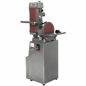 Jet BeltDisc Sander 12 In Disc 6 x 48 Belt  Includes Stand Miter Gauge