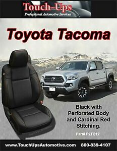 Katzkin Black Red Leather Seat Covers For 2016 2020 Toyota Tacoma Double Cab