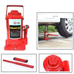 Truck Cars Hydraulic Bottle 20 Ton Jack Garage Workshop Lift Tool Us Shipping