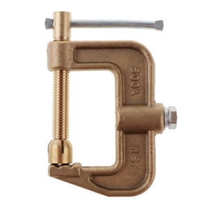 C clamp Style Ground Welding 500a Amp Earth Clamp 0 43kg Full Solid Brass