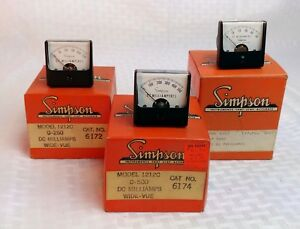 nos Simpson Panel Meter In Orig Box Model 1212c Square Bezel select Range