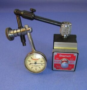 Starrett 657a Magnetic Base Indicator Holder With 196b Test Indicator Machinist