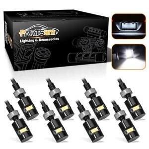 8 Super White Led Bulb License Plate Light Fit For Any Lincoln Mitsubishi Ford