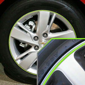 Wheel Bands Neon Green Silver Pinstripe Rim Edge Trim For Chevy Ssr Full Kit