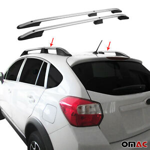 Top Roof Rack Side Rails Bars Aluminum Silver For Subaru Xv Crosstrek 2013 2015
