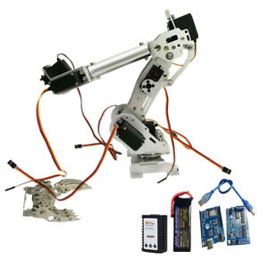 Wieless Control 8 Dof Robotic Robot Arm Gripper Kit 3316 Servo Silver