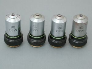 Lot Of 4 Olympus M 40x Microscope Objectives