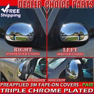 1997 2003 Ford F 150 Triple Chrome Mirror Covers Overlays Trim W O Turn Signal