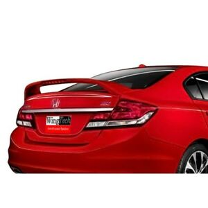 Wingtech Abs 370 Factory Style Spoiler Lighted 2013 2015 Honda Civic 4 Dr Si
